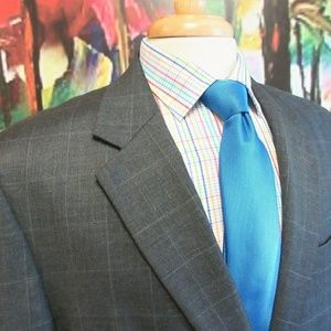 42 L- JOS. A. BANK 100% WOOL SPORT COAT WINDOWPANE